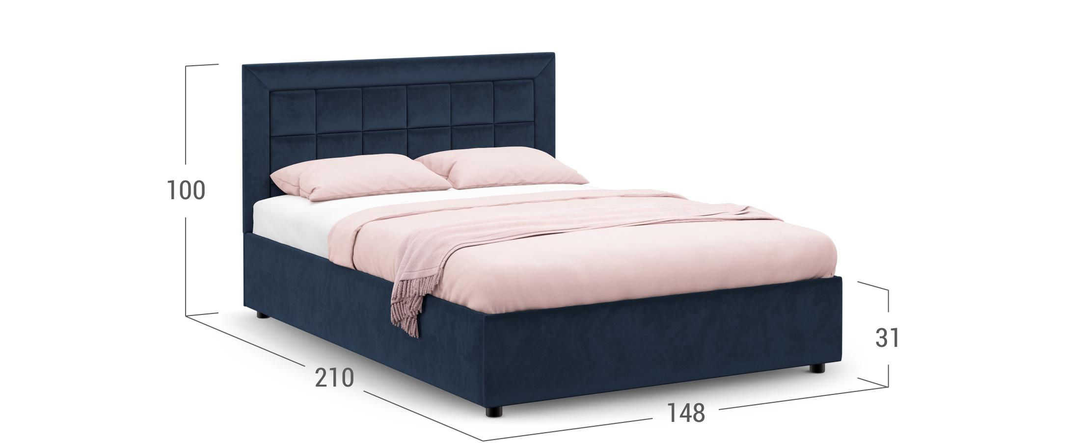 Кровать двуспальная MOON FAMILY 1222 140х200